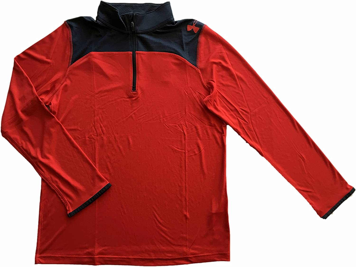 Under Armour Boys Youth Combine Training /¼ Zip Boys Long Sleeve Red Shirt