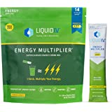 Liquid I.V. Energy Multiplier | Sustained Energy Powder Packets | Matcha and Green Energy Blend Drink Mix | Natural Caffeine