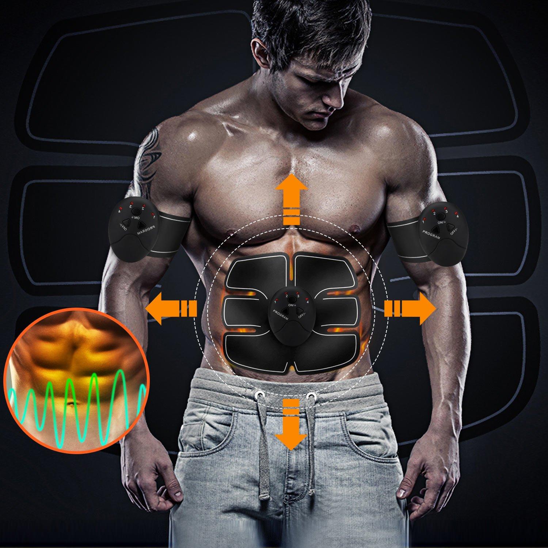 Electroestimulador muscular milota abdominal Entrenamiento EMS muscular montaje y grasa verbre nnungn