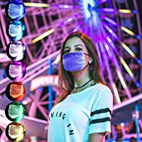 Live Wire Apollo Led Rave Mask Light Up Mask 7 Colors Costumes, 6 Filters PM 2.5
