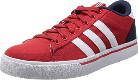 DAILY LO Red Canvas Men Sneakers Shoes