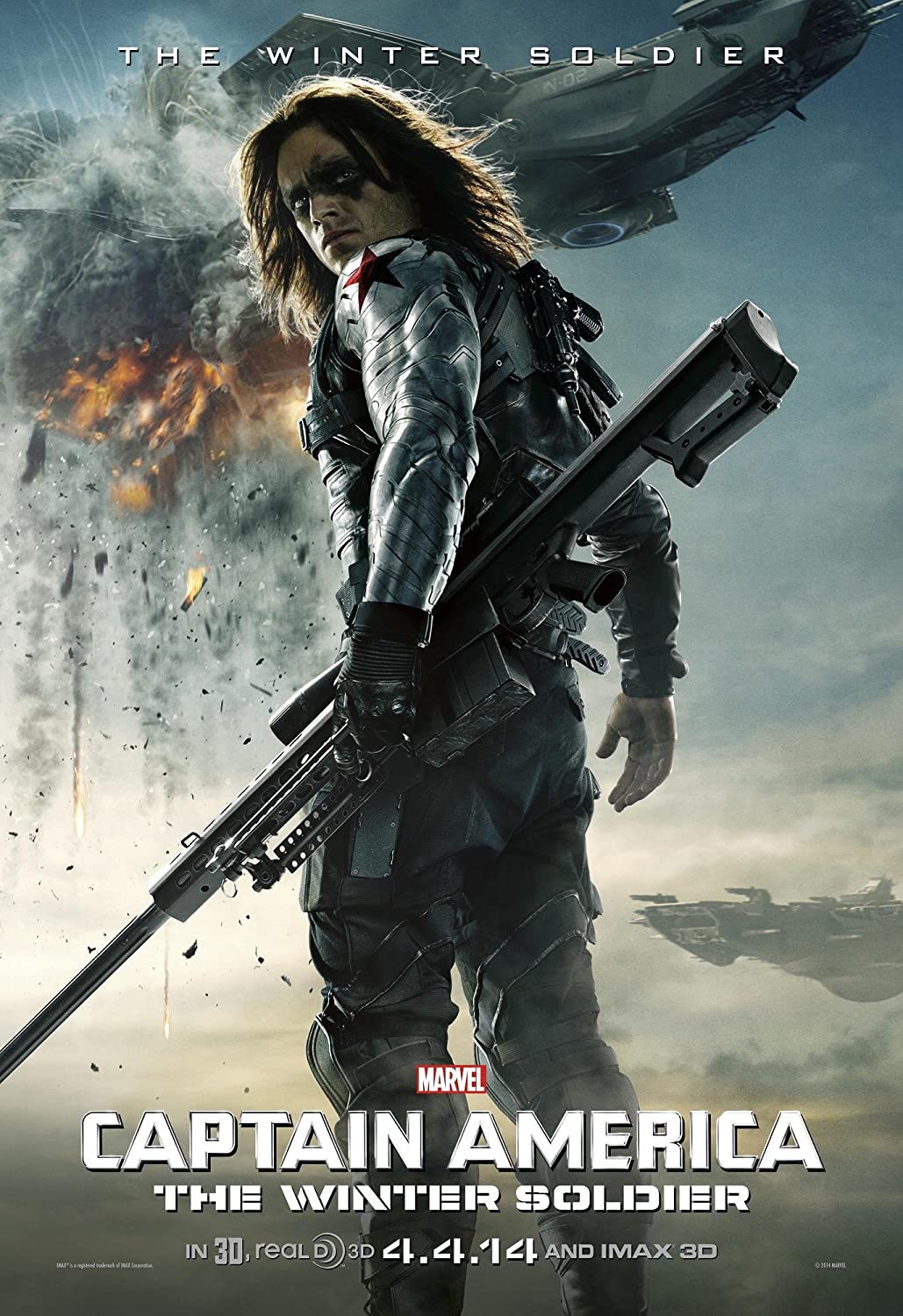 amazon com bucky captain america the winter soldier 2014 movie poster thick poster original size 16 x 24 inches chris evans frank grillo sebastian stan posters prints bucky captain america the winter soldier 2014 movie poster thick poster original size 16 x 24 inches chris evans frank grillo sebastian