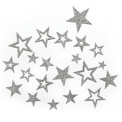 étoiles Stickers en or ou argent–r269étoiles scintillantes argent