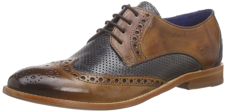 Melvin & HamiltonAmelie 3 - Zapatos Derby Mujer 37 EU|Marrón / Azul