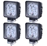 (スタンセン) Stansen LEDワークライト LEDライトバー オフロード 防水作業灯 CREE製27W 9連10-30VDC対応(12V/24V兼用)広角 4個セット[並行輸入品]