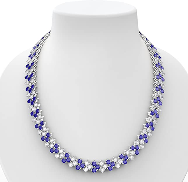"""Bling 8 Fila Diamante de Imitación Diamante 1/"""" De Ancho Brillante Collares vendedor Reino Unido /& Stock"""