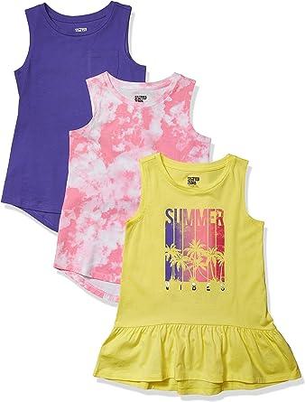 Amazon Brand - Spotted Zebra Girls' Sleeveless Tunic T-Shirts
