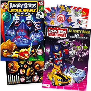 Angry Birds Coloring Book Set With Stickers 2 Activity Books 1