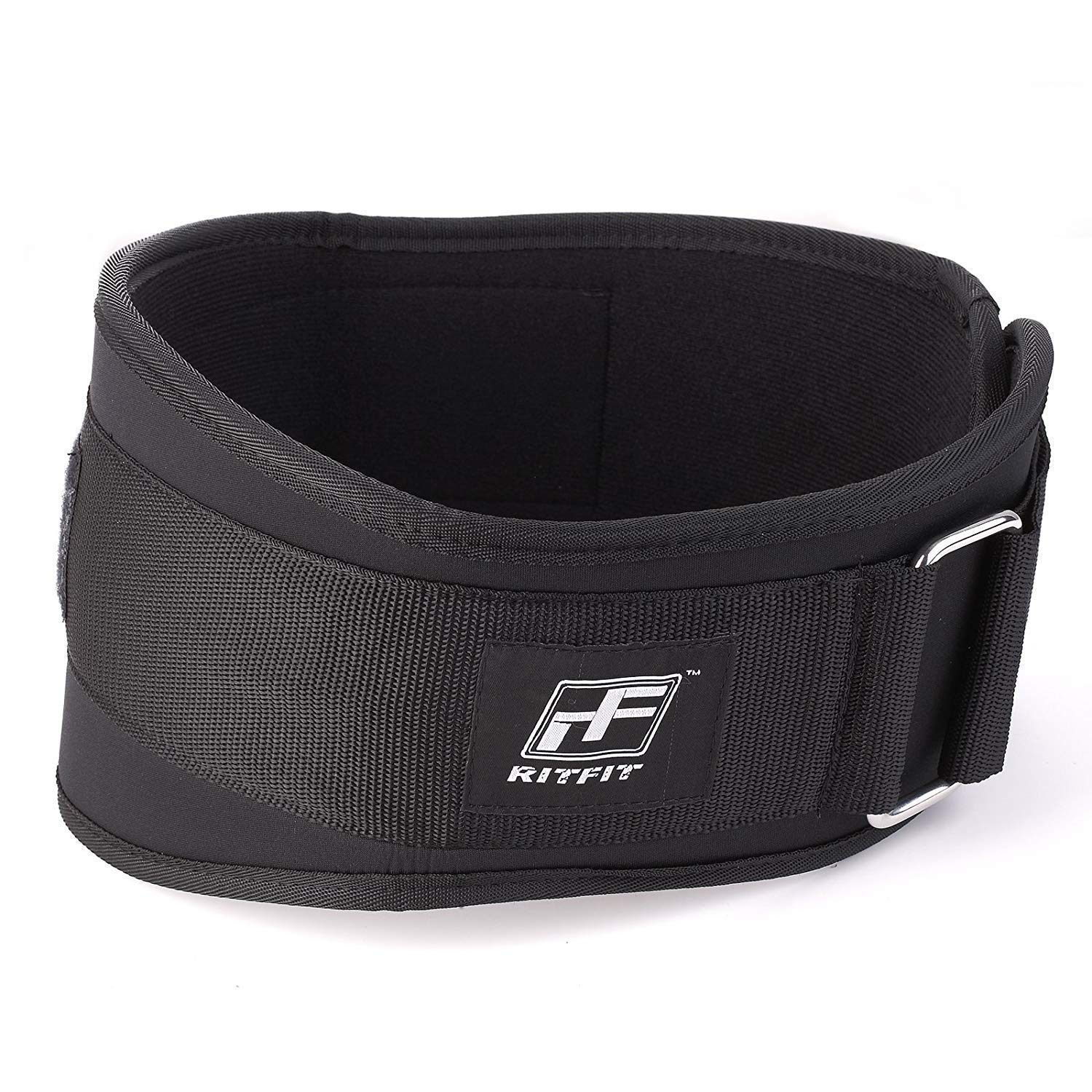 RitFit Weight Lifting Belt - Great for Squats, Clean, Lunges, Deadlift, Thrusters - Men and Women - 6 Inch - Multiple Color Choices - Firm & Comfortable Lumbar Support with Back Injury Protection by RitFit (Image #1)