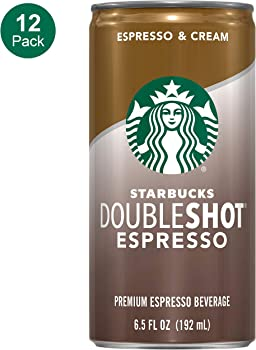 12-Pack Starbucks 6.5 Ounce Doubleshot, Espresso + Cream