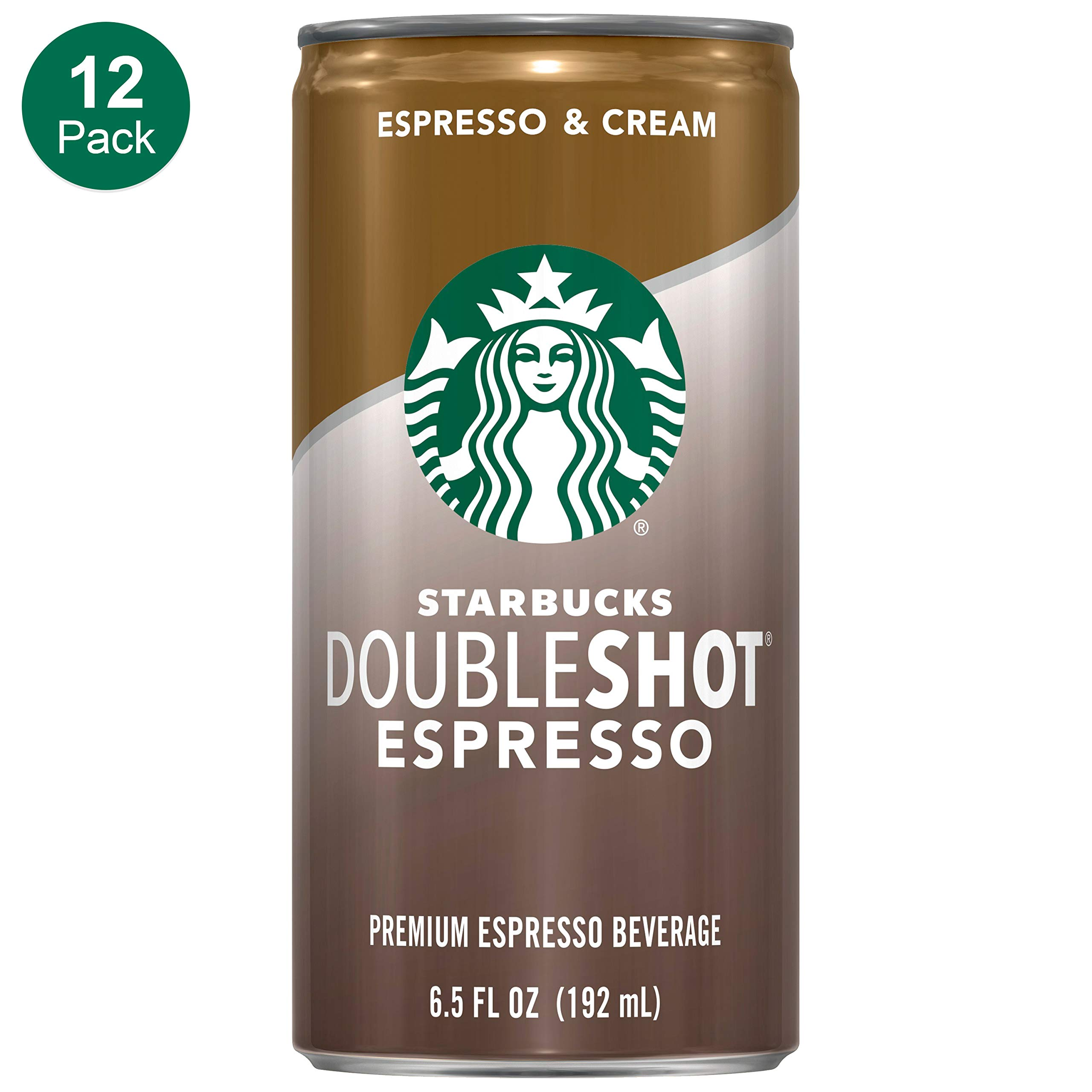 Starbucks Doubleshot, Espresso + Cream, 6.5 Fluid Ounce, Pack of 12 by Starbucks