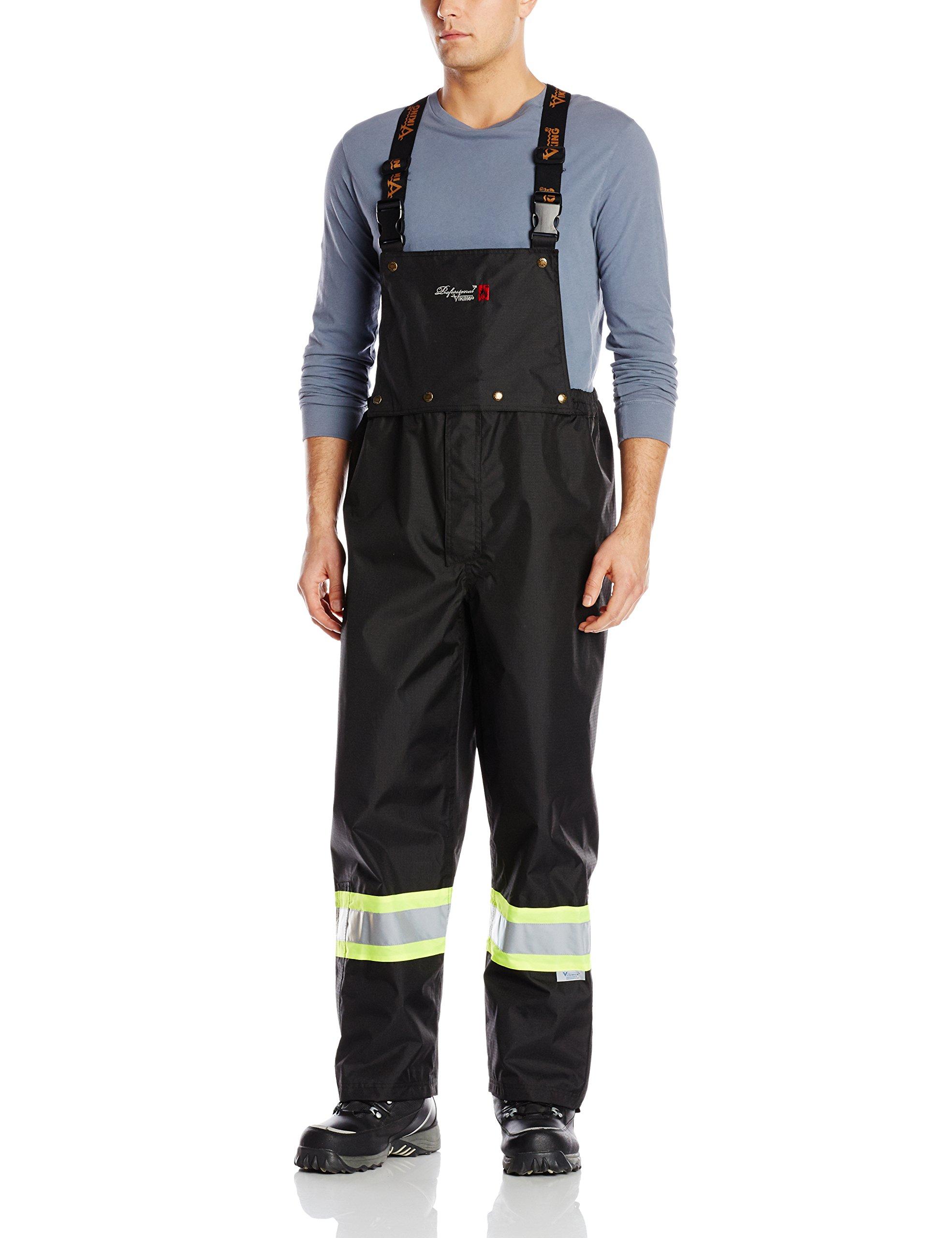 Viking Professional Journeyman FR Waterproof Flame Resistant Bib Pant, Black, Large