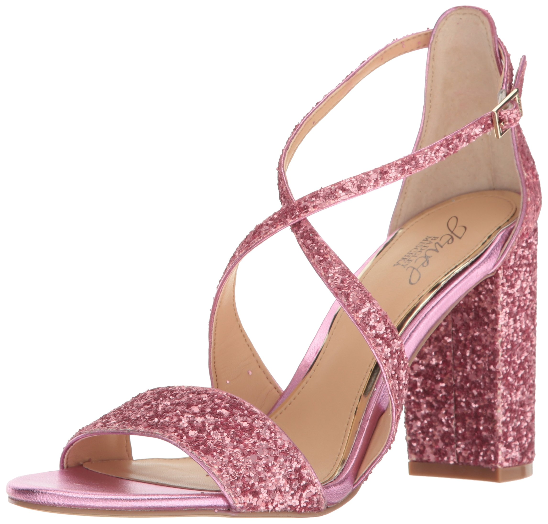 Jewel Badgley Mischka Women's Cook Dress Sandal, Hot Pink, 7.5 M US