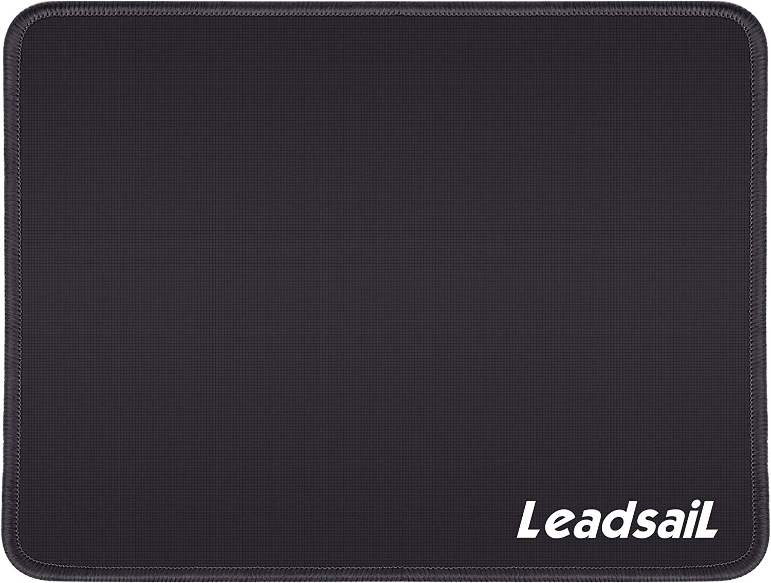 LeadsaiL Mouse Pad with Stitched Edge, Water-Resistant, Premium-Textured Mouse Mat, Non-Slip Rubber Base Mousepad for Laptop, Computer & PC, 10.6×8.3×0.1 inches (Black)