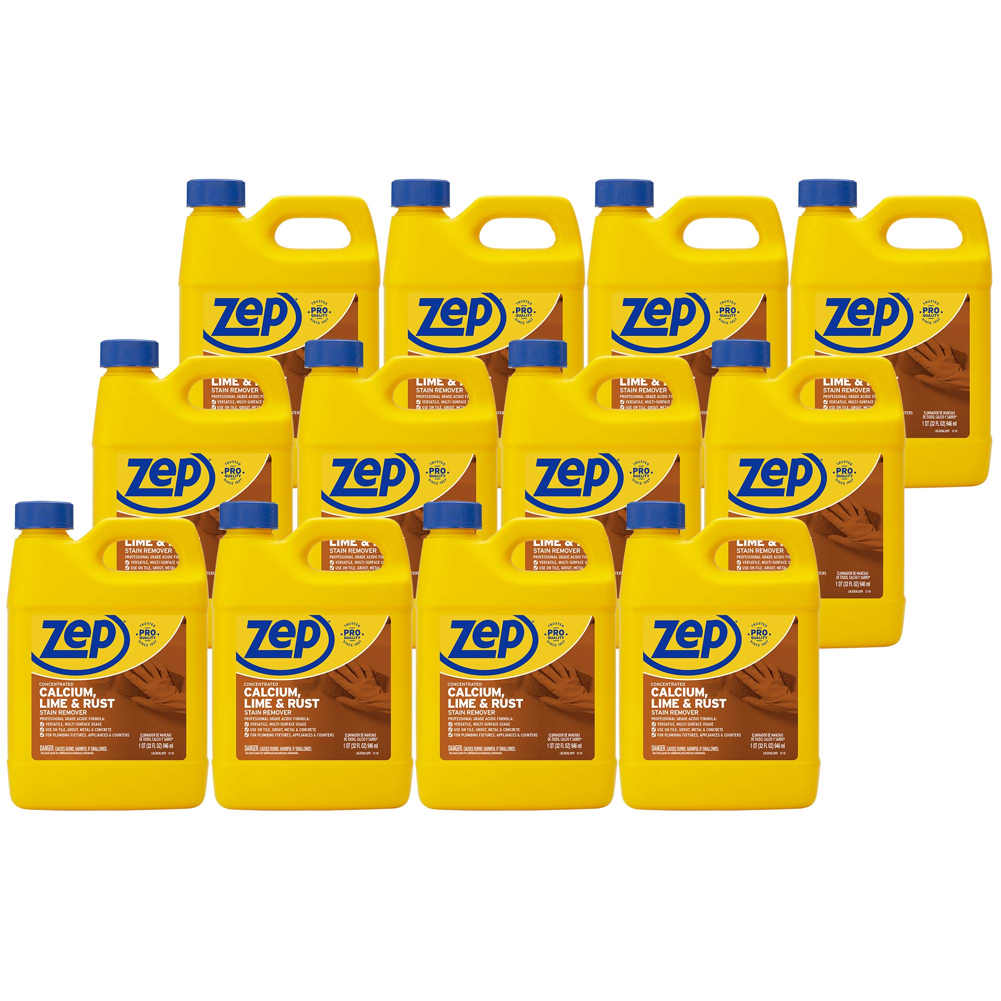 Zep Calcium, Lime and Rust Remover 32 Ounce ZUCAL32 (Case of 12) by Zep (Image #1)