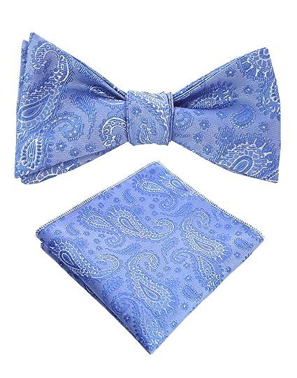 f2802012694e JEMYGINS Original Teal Paisley Mens Bowtie Self Bow Tie & Pocket Square Set  (01#