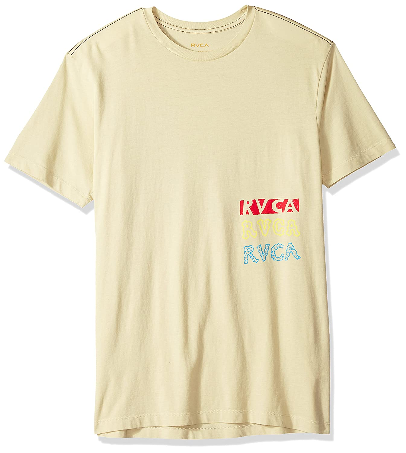 RVCA Mens Grillo Smile Short Sleeve T-Shirt, Dust Yellow, S: Amazon.es: Ropa y accesorios