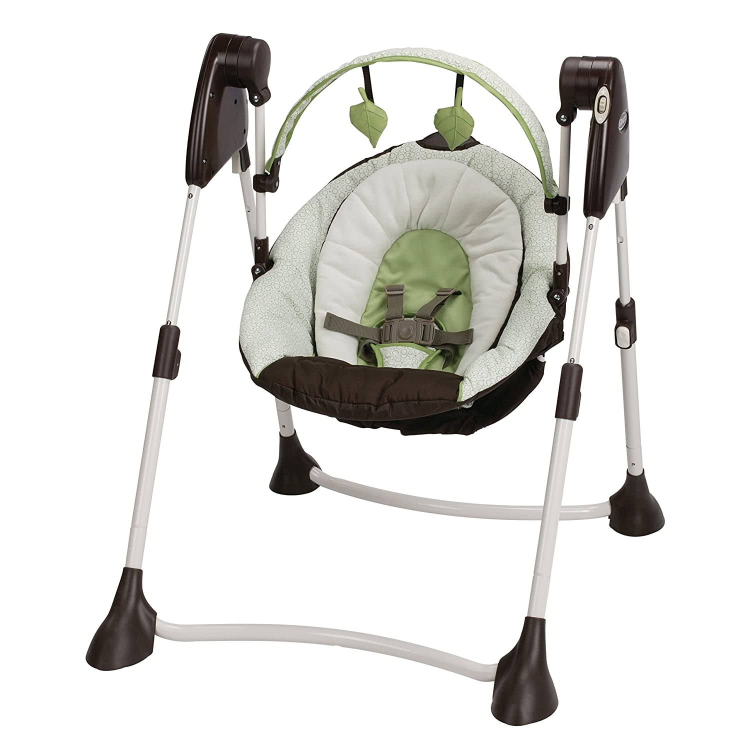 Amazon.com : Graco Swing By Me 2-in-1 Portable Swing, Go Green : Baby
