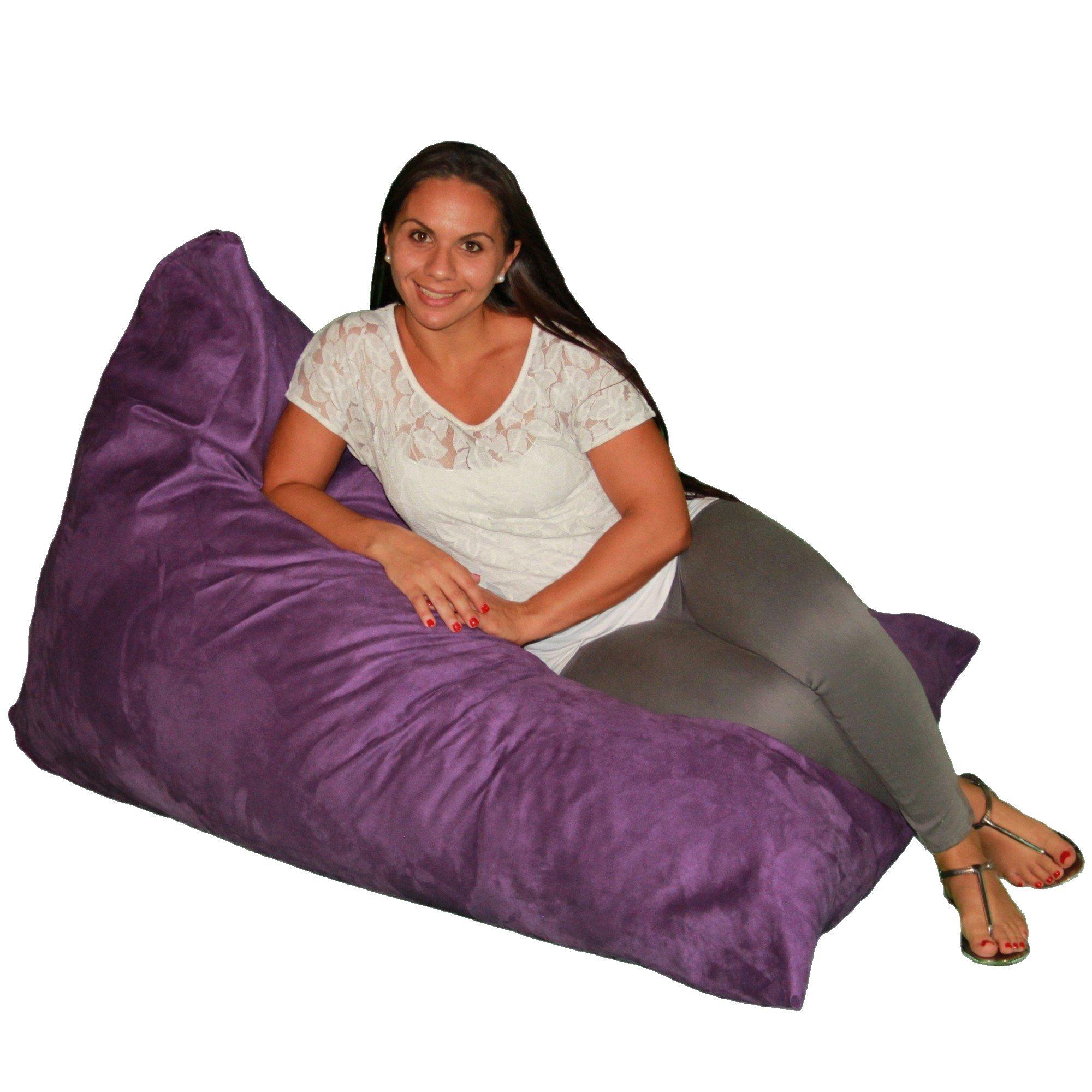 Bean Bag Chair Premium Cozy Foam Filled Cozy Lounger medium Purple