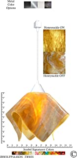 product image for Jezebel Signature JRWH-FP16-HON-TRWH White Flame Track Light, Large, Honeysuckle