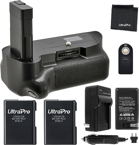 Empuñadura de batería Pack f/Nikon D5100, D5200, D5300: Incluye ...