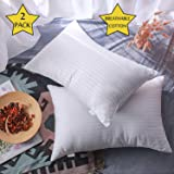Favorland Bed Pillows Home and Hotel Collection Luxury Plush Gel Pillow (2 Pack) Standard Queen Cotton Cover Good for…