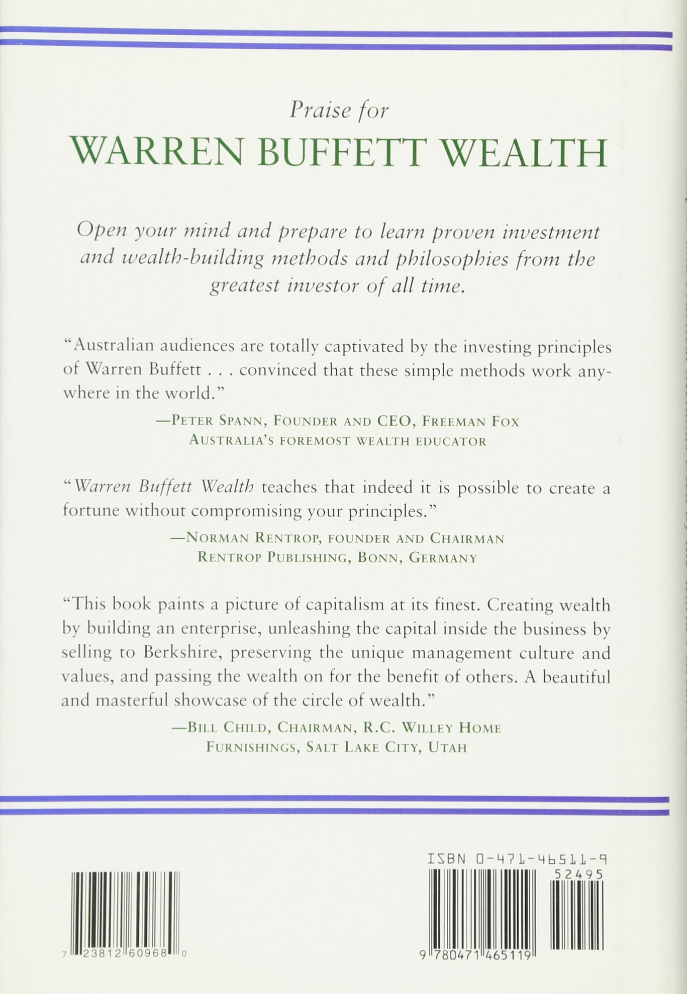Warren Buffett Wealth: Principles and Practical Methods Used by the ...
