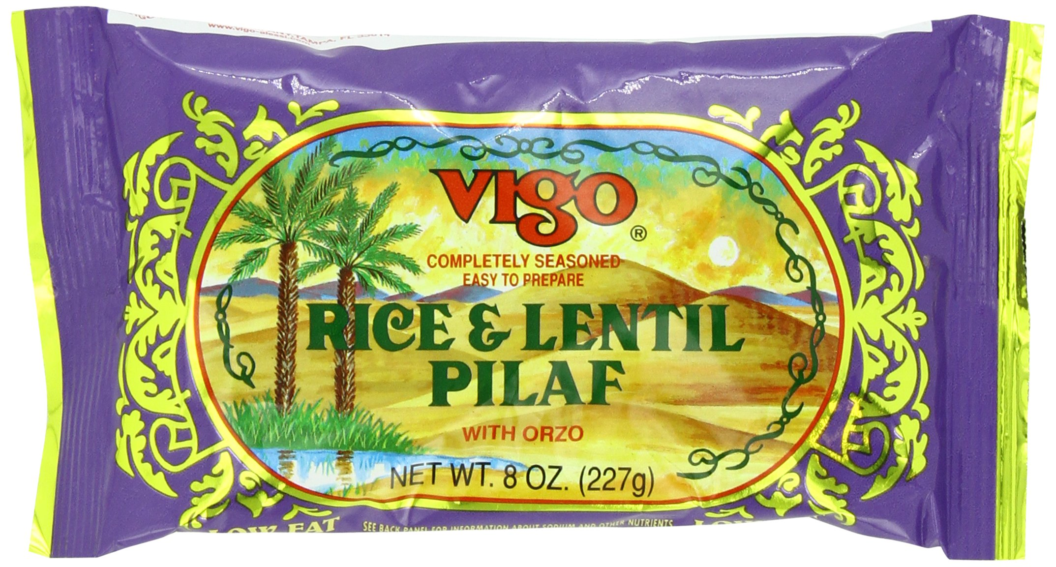 Vigo Rice and Lentil Pilaf, 8Ounce (Pack of 12) by Vigo