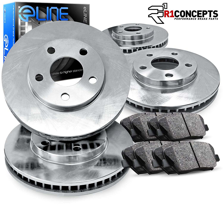 2015 For Hyundai Accent Front Anti Rust Coated Disc Brake Rotors and Ceramic Brake Pads