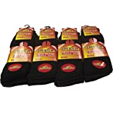 Ultimate 12 Pairs Mens Black Thermal Socks, Thick Warm Boot Socks, Size 6-11 By Sockstack®