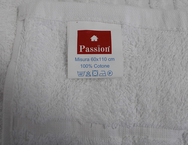 Ospite 12 Pezzi Cotone 100/% Bianco Viterbo Biancheria Set Asciugamani Bagno 6+6 Viso