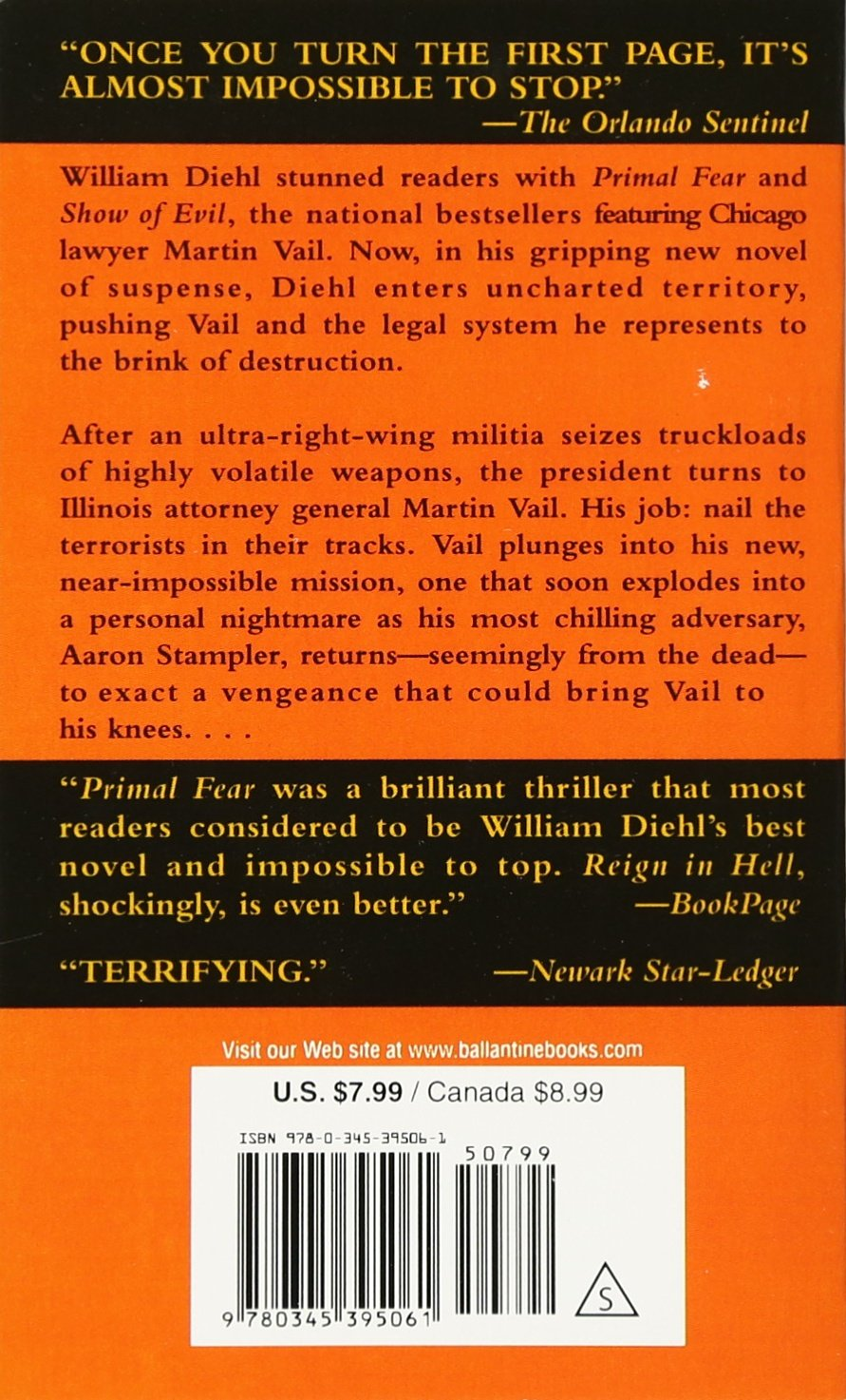 Reign in hell vail stampler william diehl 9780345395061 reign in hell vail stampler william diehl 9780345395061 amazon books fandeluxe Image collections