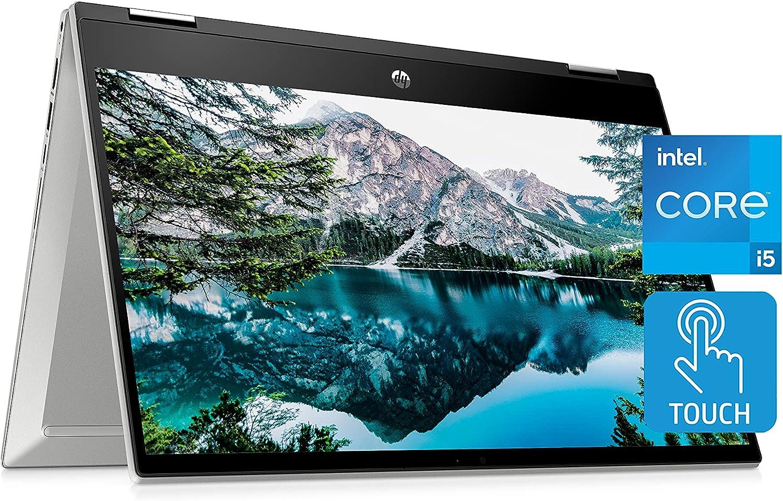 "HP Pavilion x360 14"" Touchscreen Laptop, 11th Gen Intel Core i5-1135G7, 8 GB RAM, 256 GB SSD Storage, Full HD IPS Display, Windows 10 Home OS, Long Battery Life, Work & Streaming (14-dw1024nr, 2021)"
