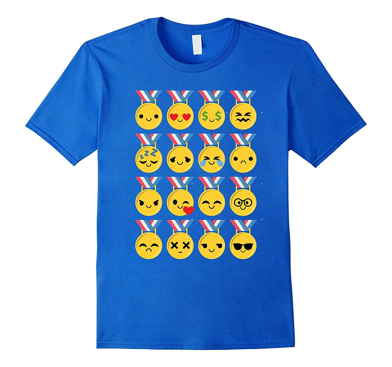 Gold Medal Emoji Many Face Shirt T-Shirt Congratulation Tee-CD