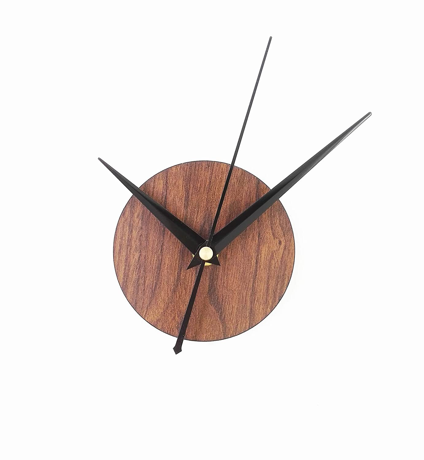 Reliable-E Wood Like Clock Face Power Movement DIY Wall Clock Kit for Home Decor (Brown) Reliable_E