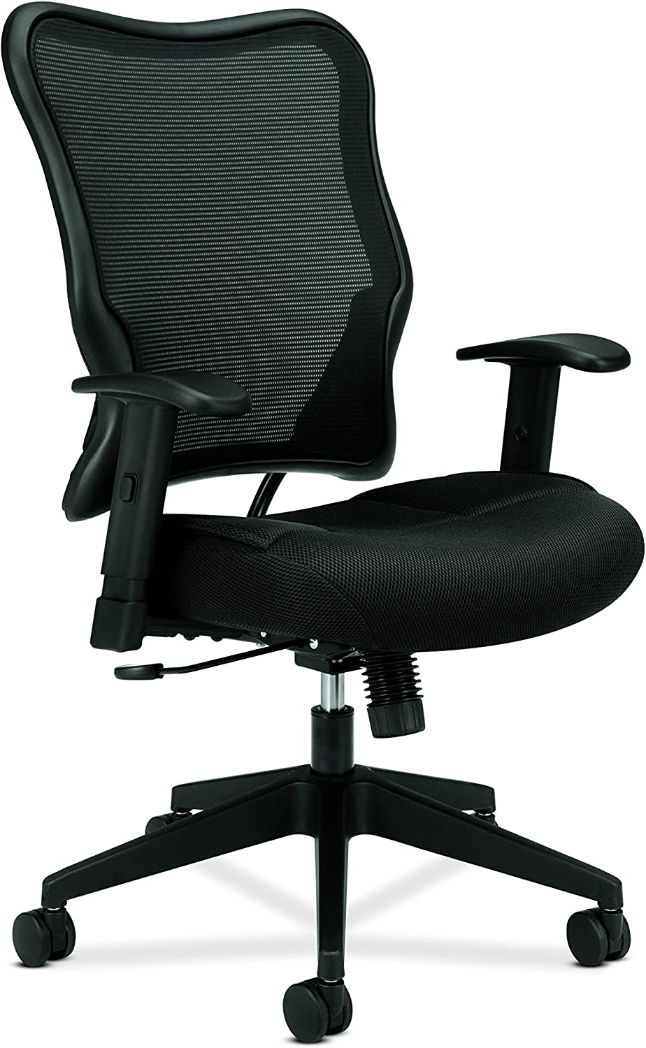 basyx by HON Mesh High-Back Task Chair, Black (HVL702)