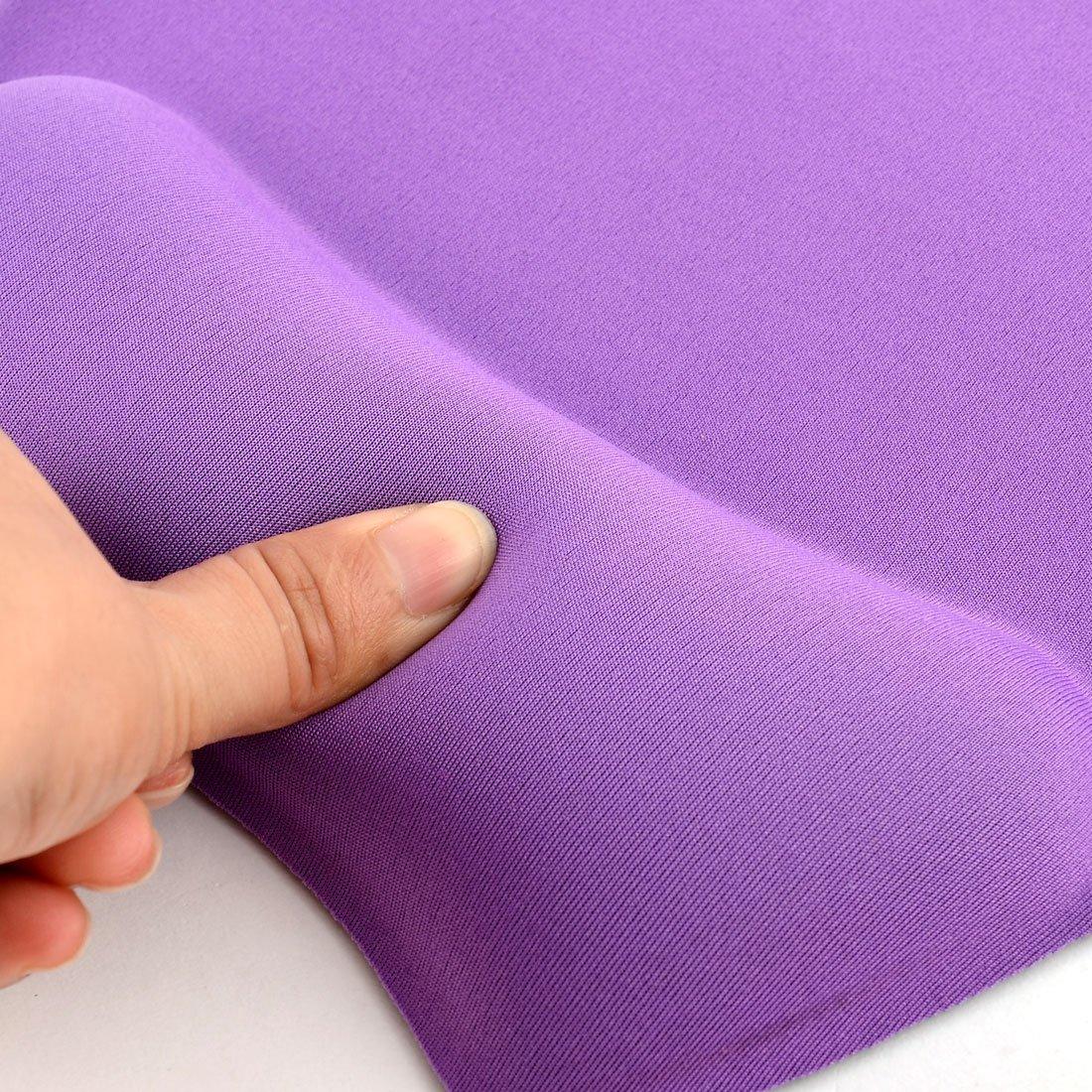 Amazon.com : eDealMax Gel ordenador PC portátil Comfort resto de muñeca del soporte de la rejilla del ratón del cojín de ratones púrpura : Office Products
