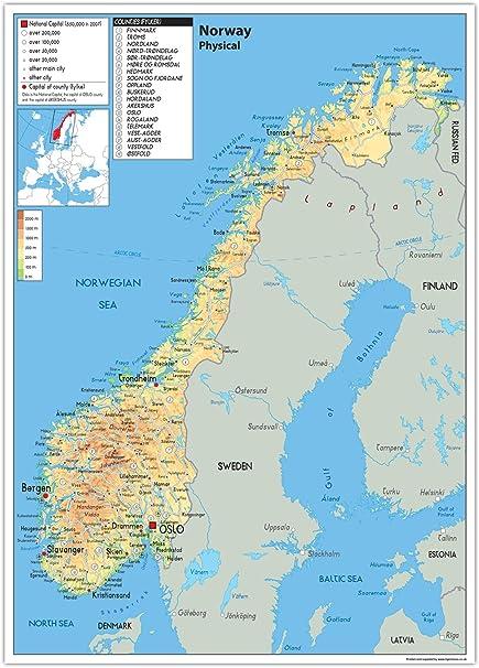 Cartina Muta Norvegia.Raccomandazione Separato Vigilia Cartina Fisico Politica Amazon Settimanaciclisticalombarda It
