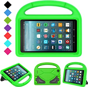 "Kids Case for All-New Fire 7 2019/2017 - TIRIN Light Weight Shock Proof Handle Kid–Proof Cover Kids Case for Amazon Fire 7 Tablet (9th/ 7th/ 5th Gen, 2019/2017/ 2015 Release)(7"" Display), Green"
