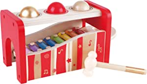 Hape E0329 Pound and Tap Bench Music Set 30th Anniversary - 2016 LIMITED EDITION Red