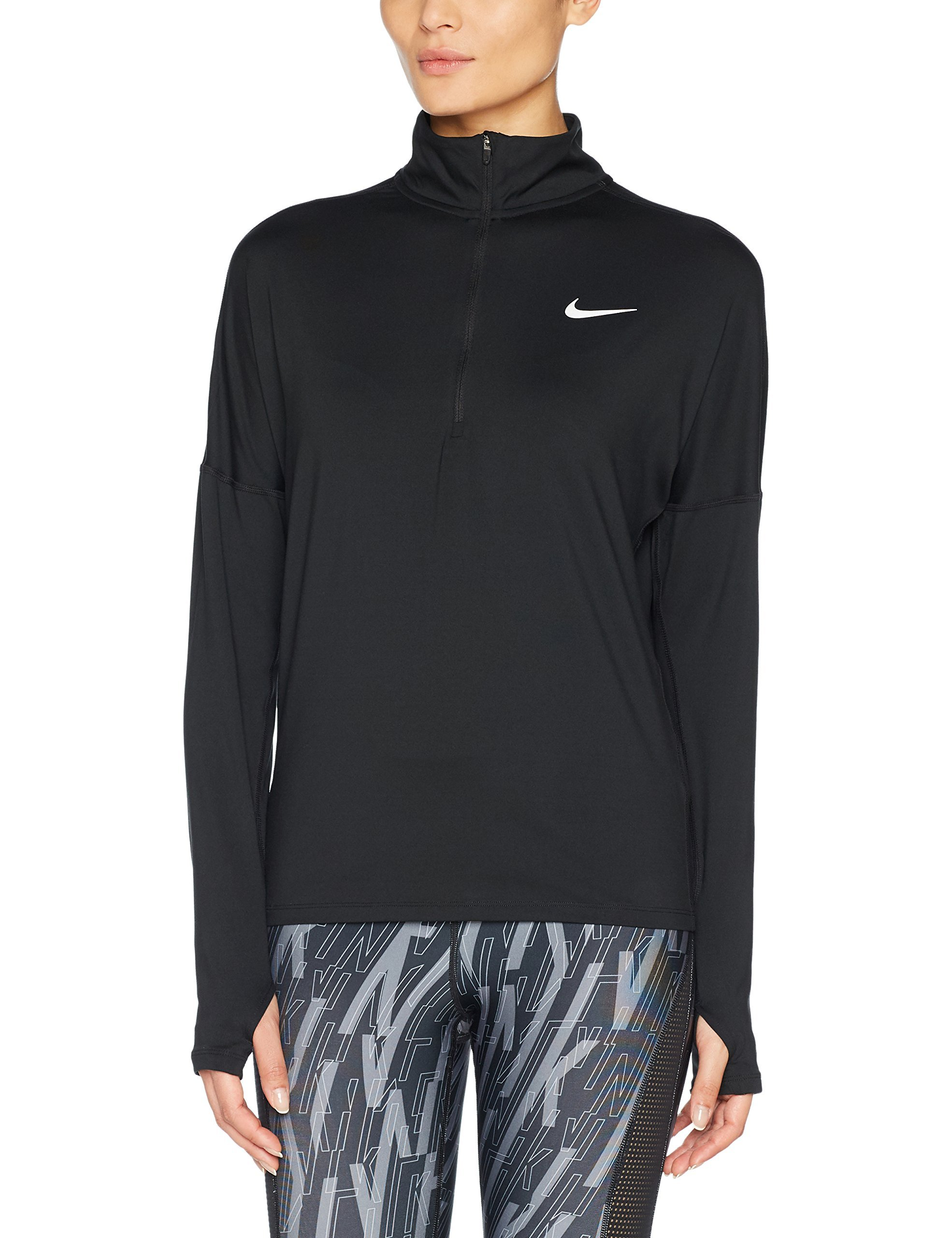 Nike Women's Dry Element Running Top Black Size Small by Nike (Image #1)