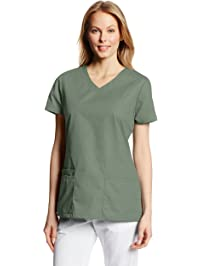 Dickies Women's EDS Signature V-Neck Top with Multiple Patch Pockets Jr