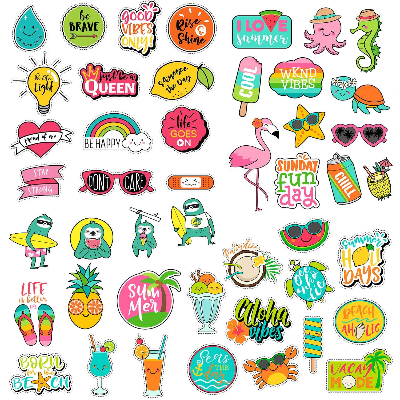 (47 Pack) Vsco Stickers for Teen Girls   Creative Cute Aesthetic Trendy  Waterproof Vinyl Sticker Pack for Hydro Flask Yeti Water Bottles Laptop  Phone