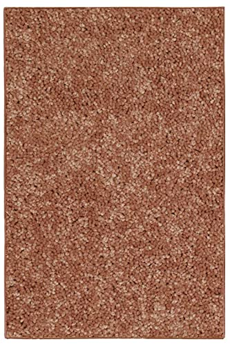 New Shag Collection Solid Color Rust 3 x5