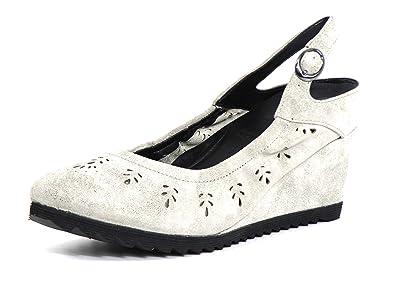 Gerry Weber Damen Sandaletten KHAKI grau G13024828/660 Schuhe