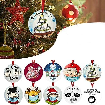 Custom Farmhouse Christmas Decor Holiday Accessories Personalized Wreath Christmas Ornament