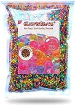 MarvelBeads Water Beads Rainbow Mix (Half Pound) for Spa Refill, Sensory
