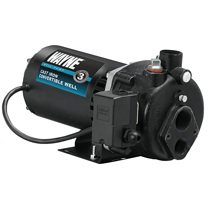 WAYNE CWS50 1/2 HP Cast Iron Convertible Well Jet Pump for Wells up to 90 ft.