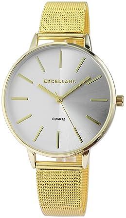 Excellanc llanc Mujer Reloj con malla de acero inoxidable ...