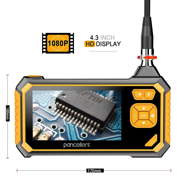Borescope industriel num/érique 1920X1080P 3 m/ètres /écran LCD couleur de 4,3 pouces 10 pieds vid/éoscope /à endoscope Pancellent avec cam/éra dinspection /étanche IP67 carte m/émoire 32G